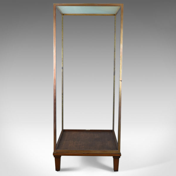 Large Display Case, Bronze, Museum Quality, Showcase, A. Edmonds & Co Mid C20th