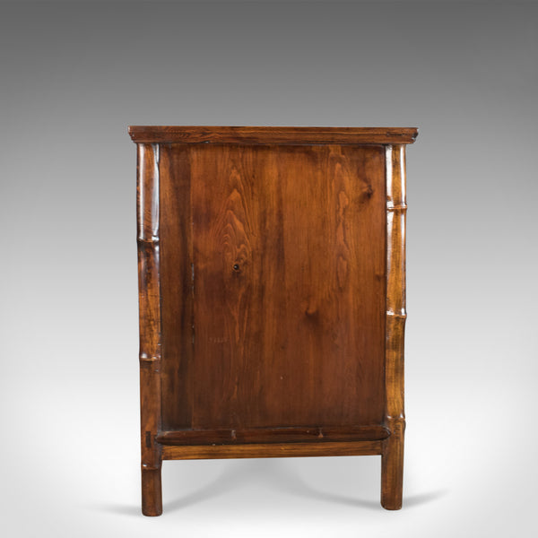 Large Elm Cabinet, Oriental Taste, Late 20th Century Chinese Cupboard - London Fine Antiques