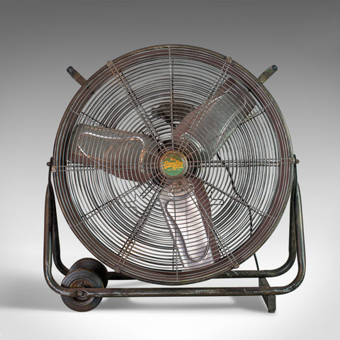 Large Floor Standing Fan, Powerful, Superdry Branded, Industrial Cooling - London Fine Antiques