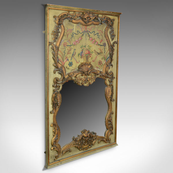 Large, French, Rococo Revival, Wall Mirror, Painted, Hall, Overmantel, C20th - London Fine Antiques