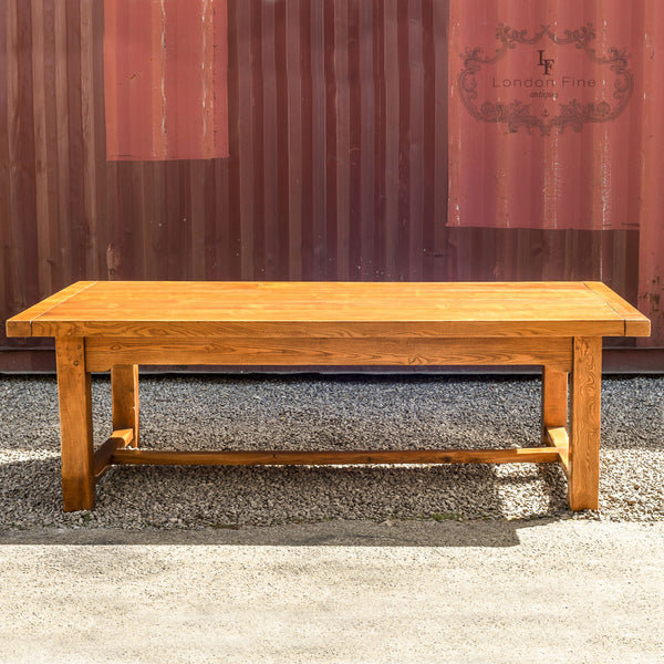 Large Ash Refectory Dining Table, Late C20th - London Fine Antiques