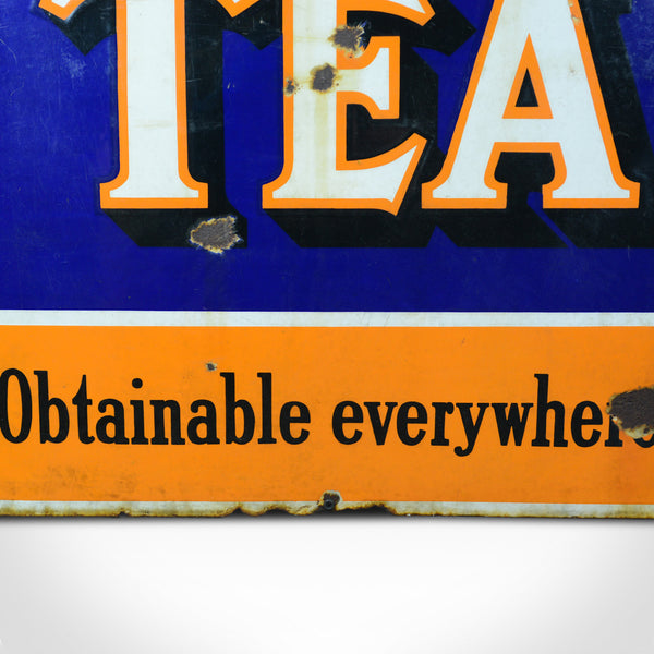 Large, Mid-Century, Enamel Sign, English, Vintage, Lyons Tea, Advertising c1950s - London Fine Antiques