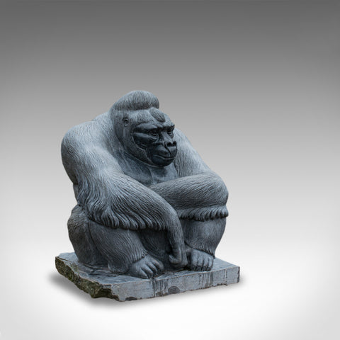 Large Sculptural Artwork Marble Statue Shabani Lowland Gorilla by Dominic Hurley - London Fine Antiques