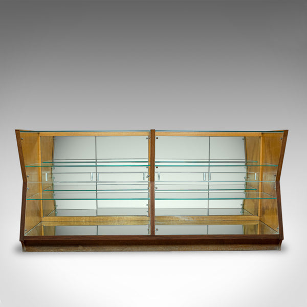 Large Vintage Display Cabinet, Glass, Oak, Retail, Shop-Fitting, Art Deco c.1930 - London Fine Antiques