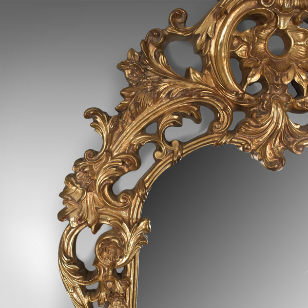 Large Wall Mirror, Victorian Taste, Late 20th Century