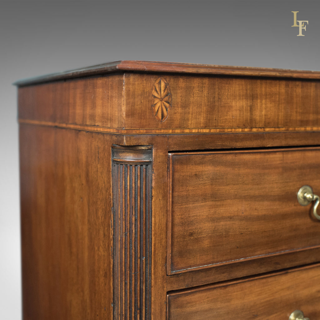 Late Georgian Antique Chest Of Drawers Mahogany English Commode C