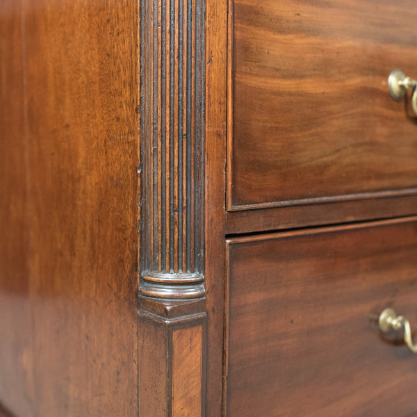 Late Georgian Antique Chest Of Drawers, Mahogany, English, Commode c.1780