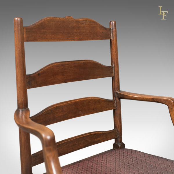Late Georgian Antique Elbow Chair, English, Chippendale Overtones to Lower Frame - London Fine Antiques
