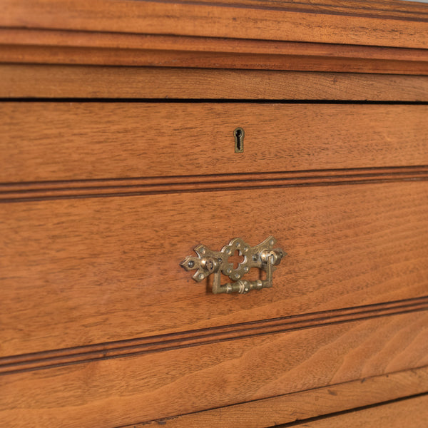 Late Victorian Antique Tallboy, 19th Century English Chest of Drawers c.1890
