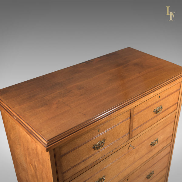 Late Victorian Antique Tallboy, 19th Century English Chest of Drawers c.1890 - London Fine Antiques