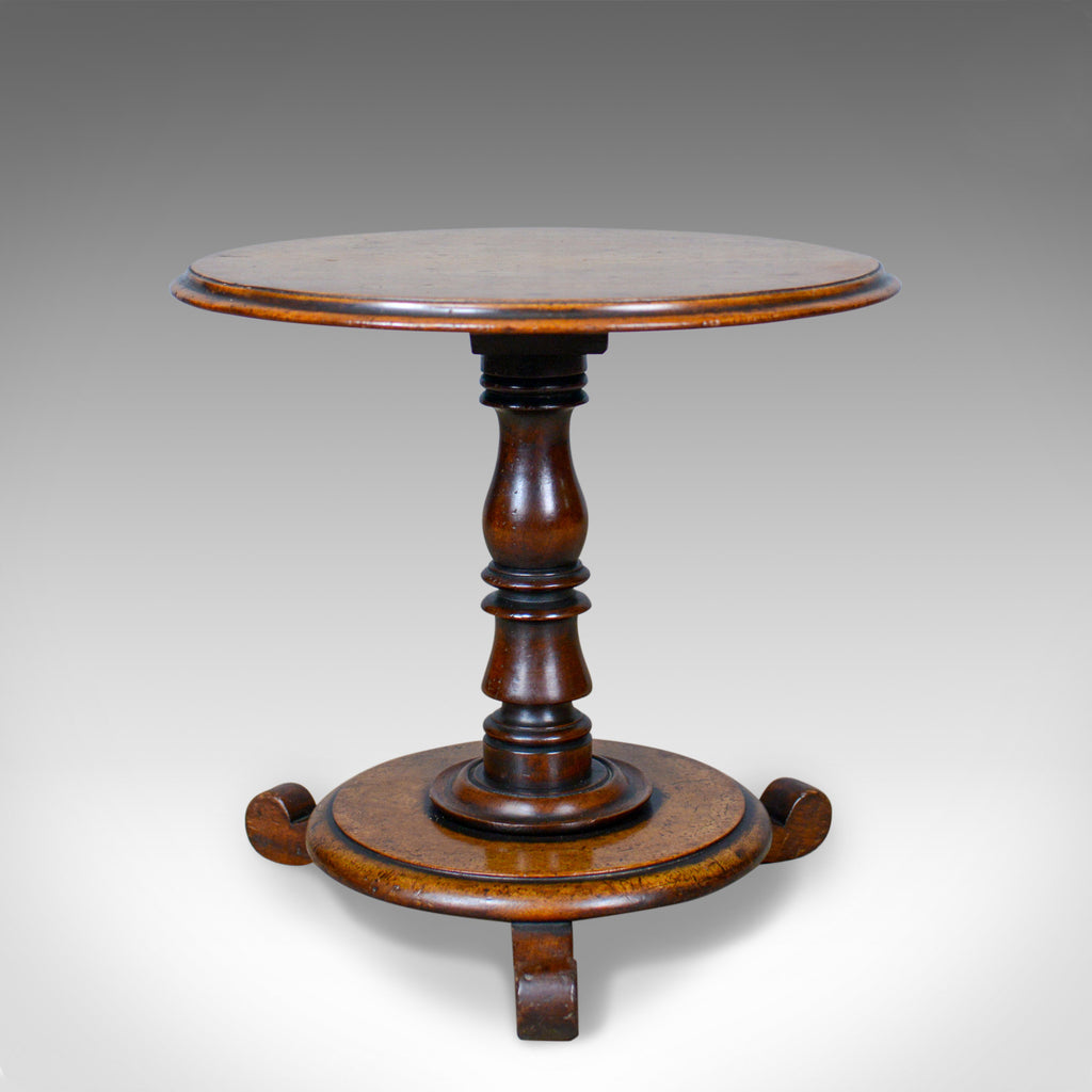 Low, Antique Wine Table, English, Victorian, Lamp, Side, Mahogany, Circa 1850 - London Fine Antiques