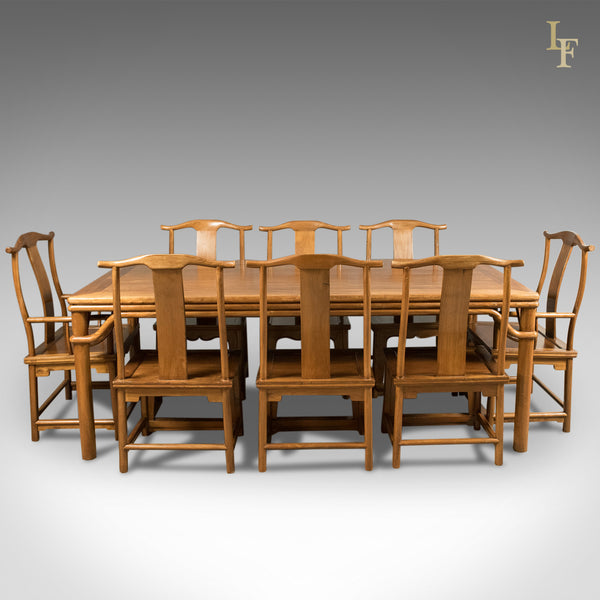 Mid-Century Chinese Table & 8 Chairs in Traditional Taste - London Fine Antiques