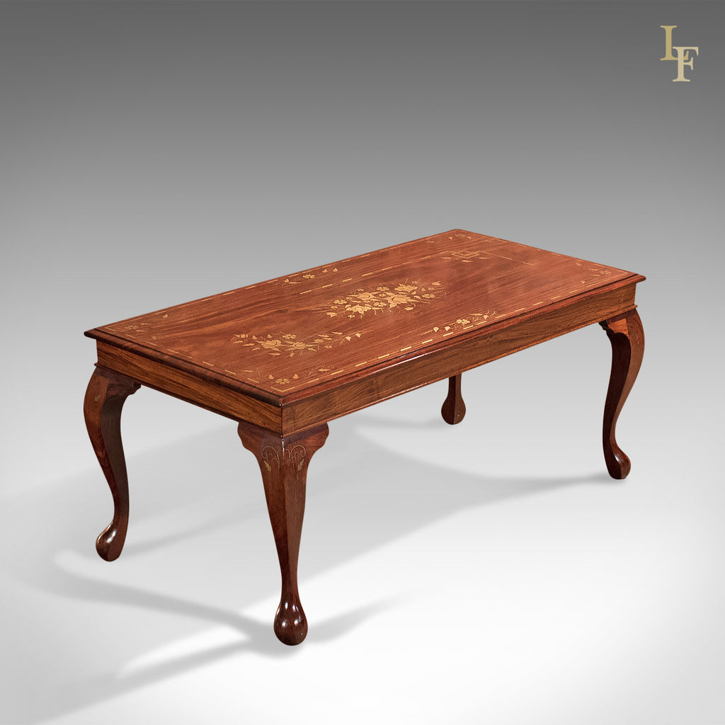 Mid-Century Coffee Table, Inlaid Asian Walnut