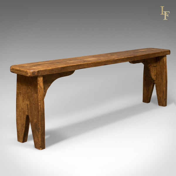 Pine Bench Mid Century - London Fine Antiques