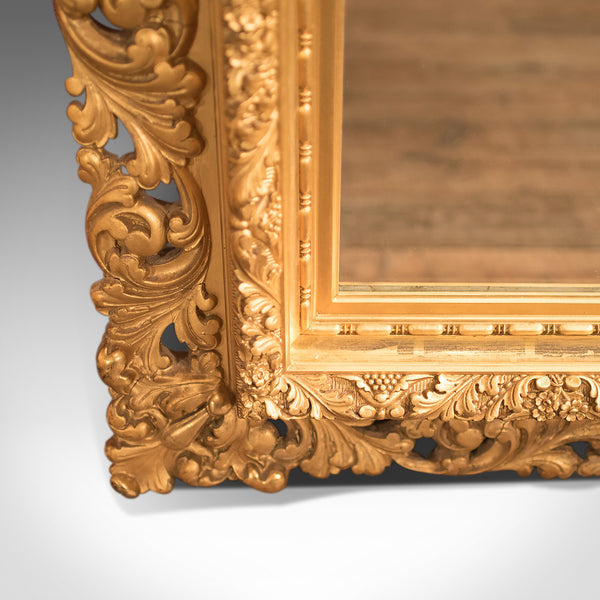 Mid-Century Revival Wall Mirror in Gilt Gesso - London Fine Antiques