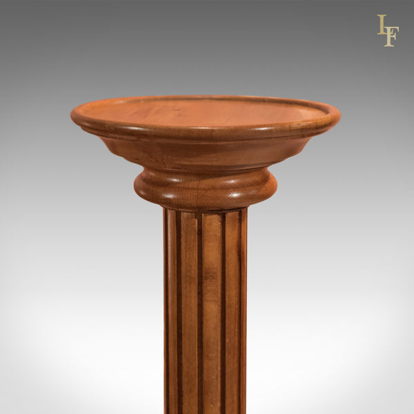 Mid-Century Walnut Torchere, Plant Stand - London Fine Antiques