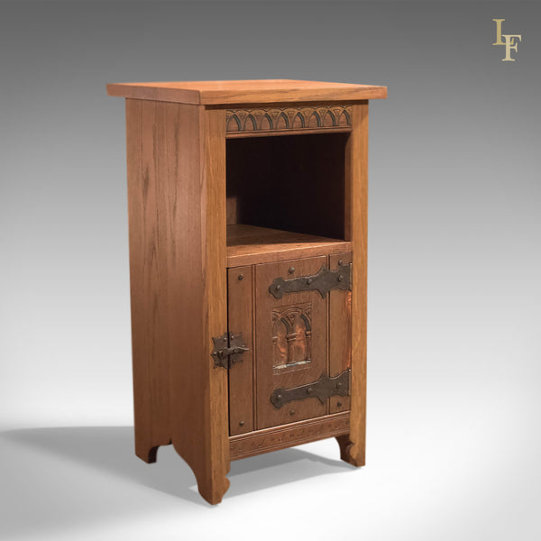 Mid-Century Arts & Crafts Oak Bedside Cabinet - London Fine Antiques