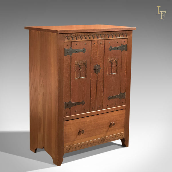 Mid-Century Arts & Crafts Oak Cabinet - London Fine Antiques
