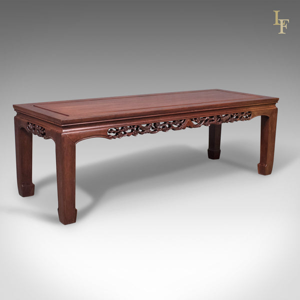 Mid-Century Chinese Rosewood Coffee Table, Traditional Form