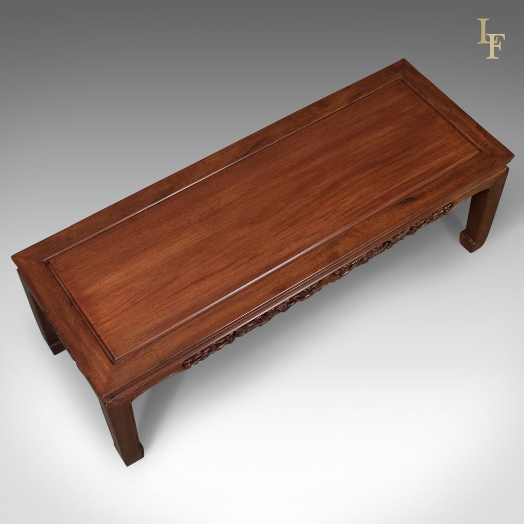 Mid Century Chinese Rosewood Coffee Table Traditional Form