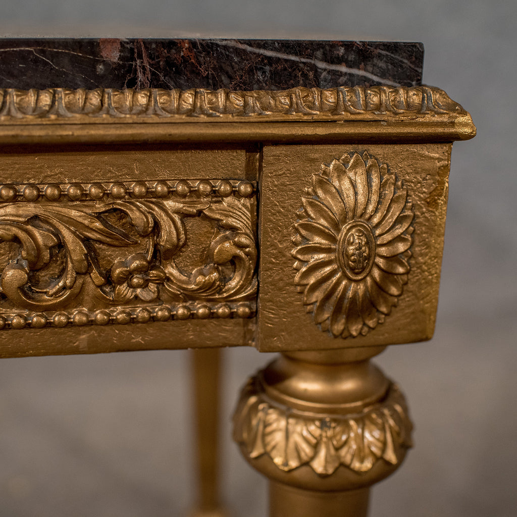 French Gilt Coffee Table: Mid-Century Coffee Table, French Gilt And Marble Circa 1960