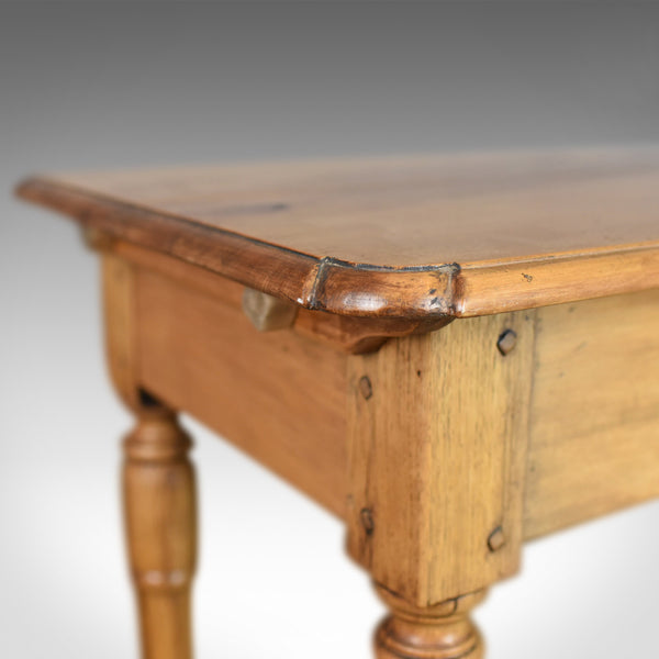 Mid-Century Pine Side Table, French Provincial Country Kitchen Taste Mid C20th