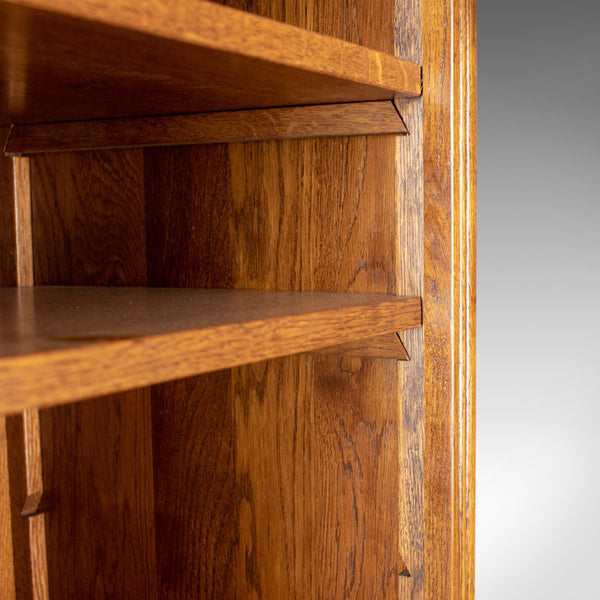 Mid-Sized, Tall, Bookcase, English Oak, Gothic Overtones 20th Century