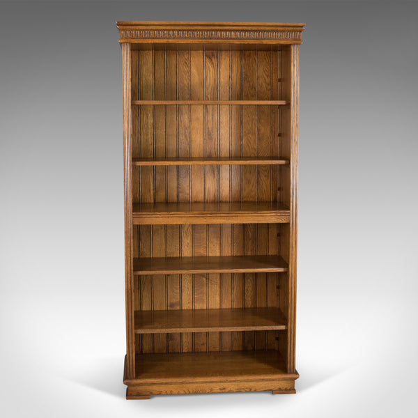 Mid-Sized, Tall, Open Bookcase, Oak, Gothic Overtones 20th Century - London Fine Antiques