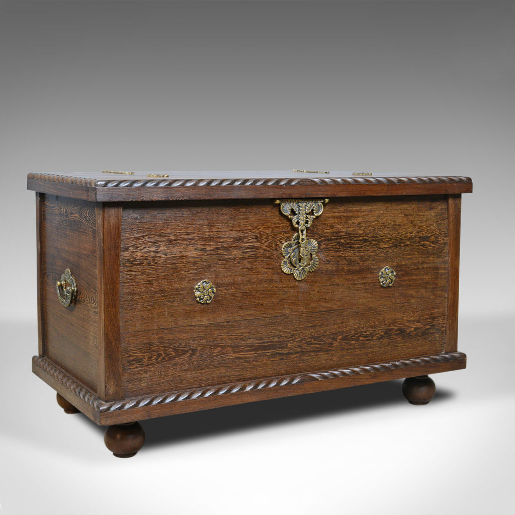 Mid 20th Century Burmese Chest, Blanket Box, Wooden Trunk, Circa 1940