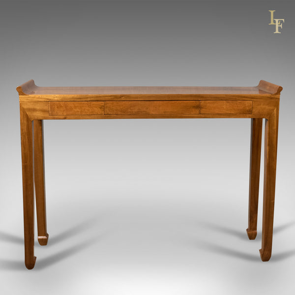 Mid century hall console table oriental alter table in cherry london fine antiques - Alter table modify default ...