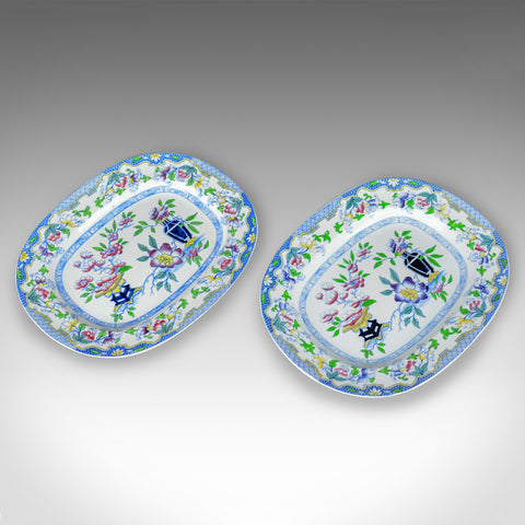 Mintons Ovular Serving Plates, English, Early 20th Century, Ceramic Dishes