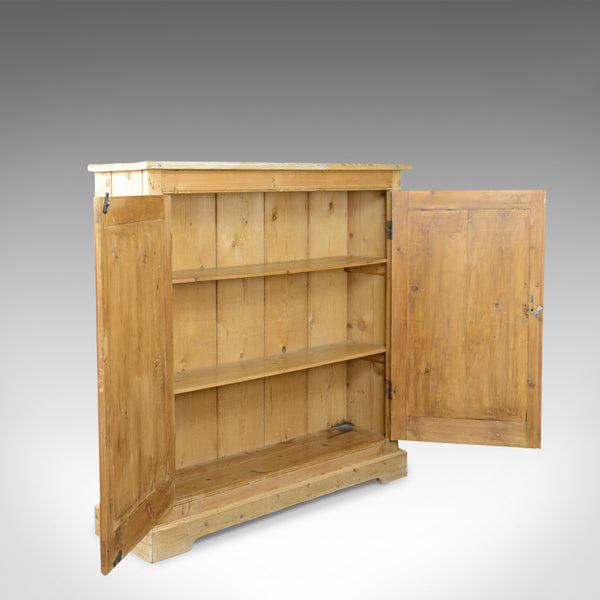 Narrow Antique Pine Cupboard, English, Victorian, Kitchen Cabinet Circa 1850 - London Fine Antiques