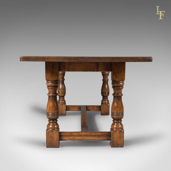 6-8 Seat Oak Refectory Table, C17th Revival made late C20th - London Fine Antiques