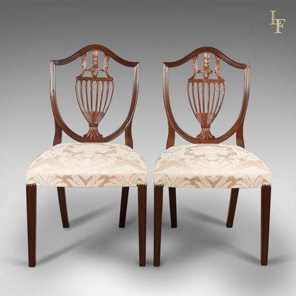 Pair of Side Chairs, Late 20th Century, Harrods After Hepplewhite - London Fine Antiques