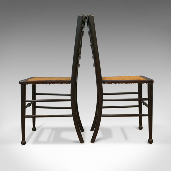 Pair of Antique Chairs, Edwardian, Ebonised, Side, Early 20th Century, C.1910 - London Fine Antiques