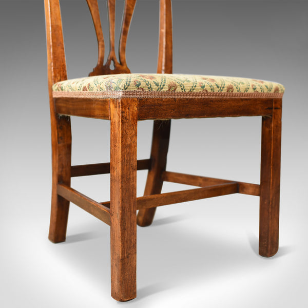Pair of Antique Chairs, Georgian, Fruitwood, Dining, Chippendale, Circa 1780 - London Fine Antiques