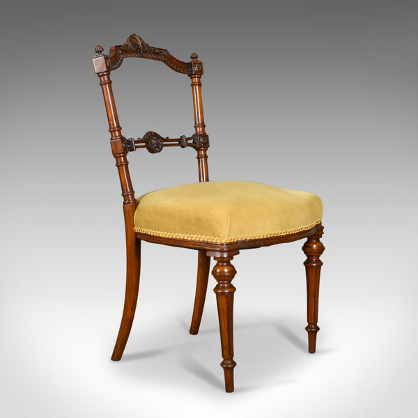 Pair of Antique Chairs, English, Walnut, Aesthetic Period, Side, Circa 1880
