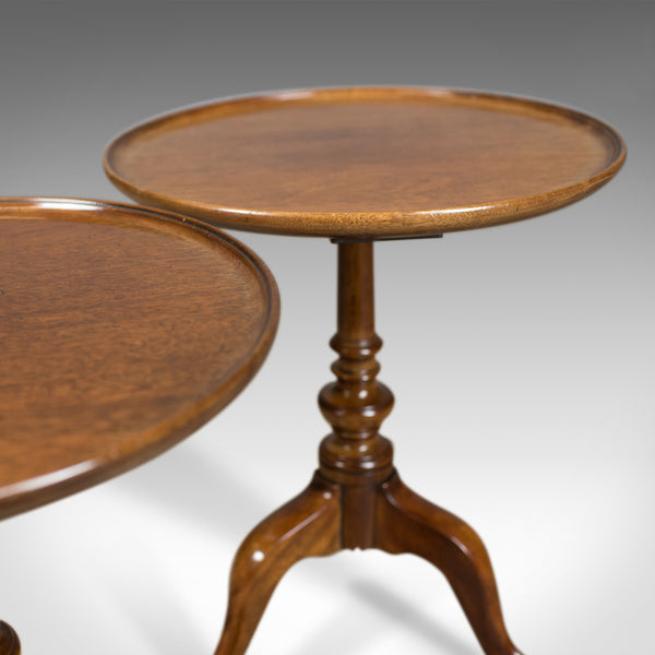 Pair of Antique Wine Tables, English, Edwardian, Mahogany, Tripod, Side c.1910 - London Fine Antiques