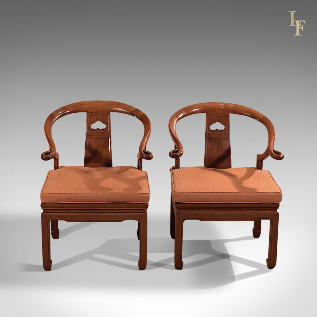 Pair Of Chinese Chairs, Mid Century George Zee U0026 Co   London Fine Antiques