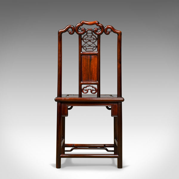 Pair of Chinese Hall Chairs, Traditional, Rosewood, Mid 20th Century - London Fine Antiques