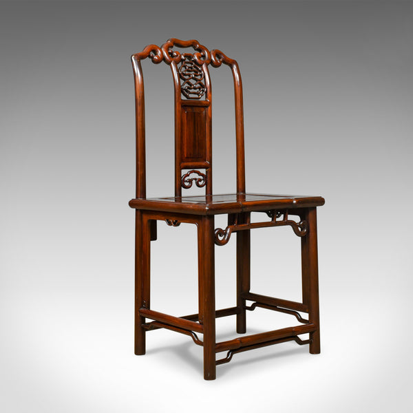 Pair of Chinese Hall Chairs, Traditional, Rosewood, Mid 20th Century