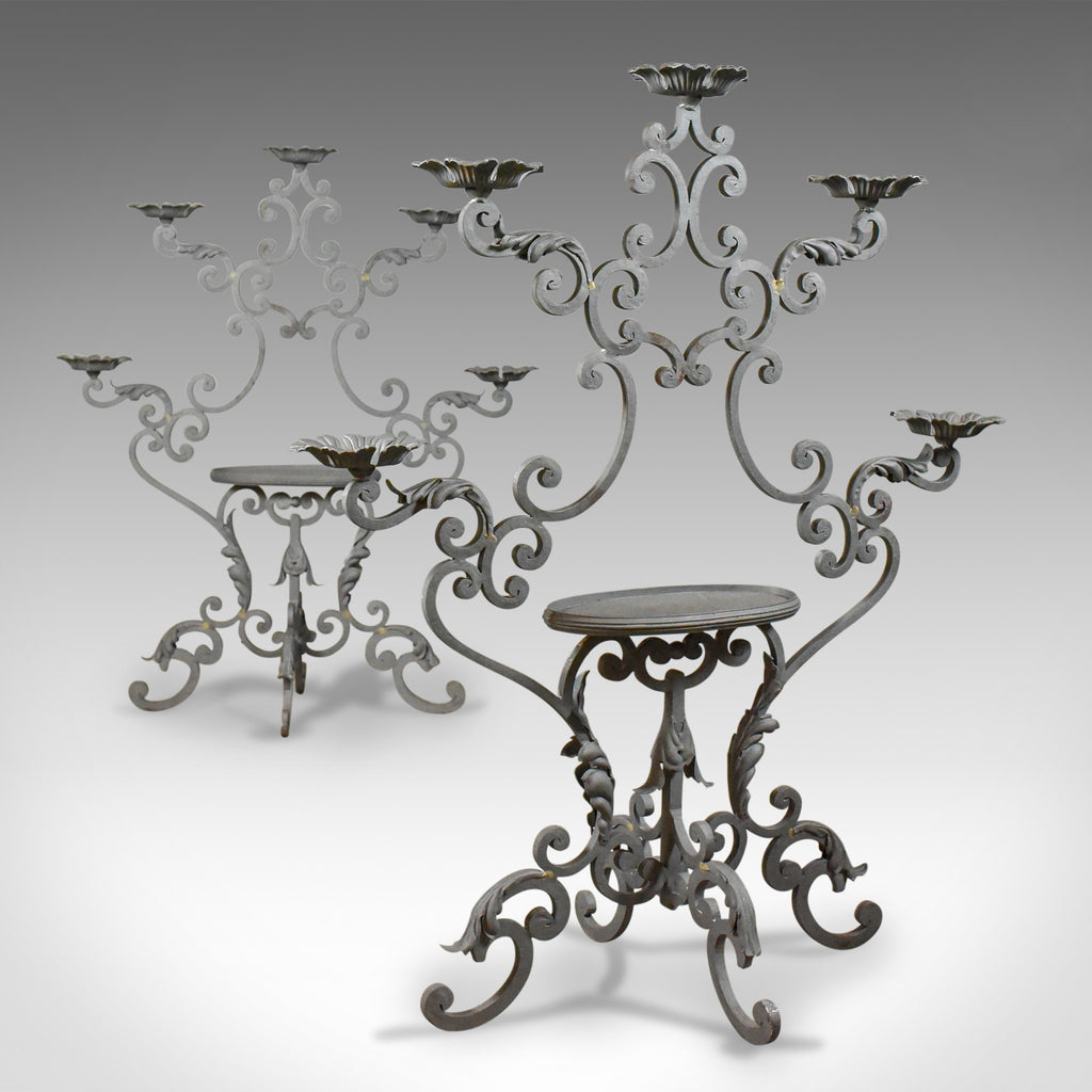 Pair of Large Florist Plant Stands, Church Candle Holder Late 20th Century - London Fine Antiques