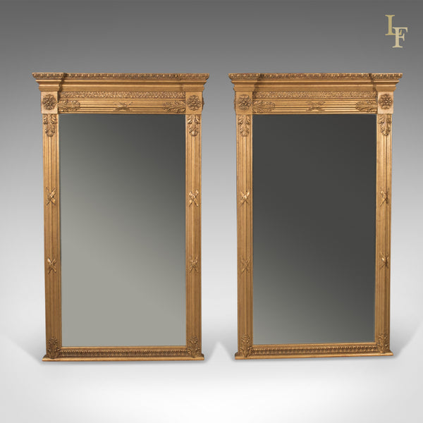 Pair of Regency Revival Pier Mirrors, Top Quality, Late C20th, Wall - London Fine Antiques