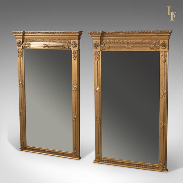 Pair of Regency Revival Pier Mirrors, Top Quality, Late C20th, Wall