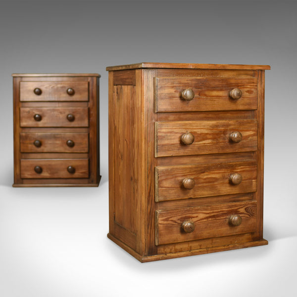 Pair of French Provincial Style Pine, Bedside Cabinets, Chest of Drawers C20th