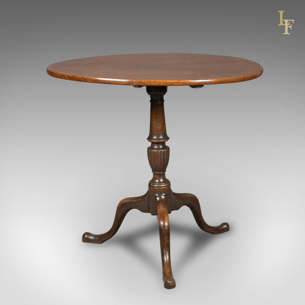 Antique Tilt Top Table, English, Georgian, Mahogany, Side Circa 1800