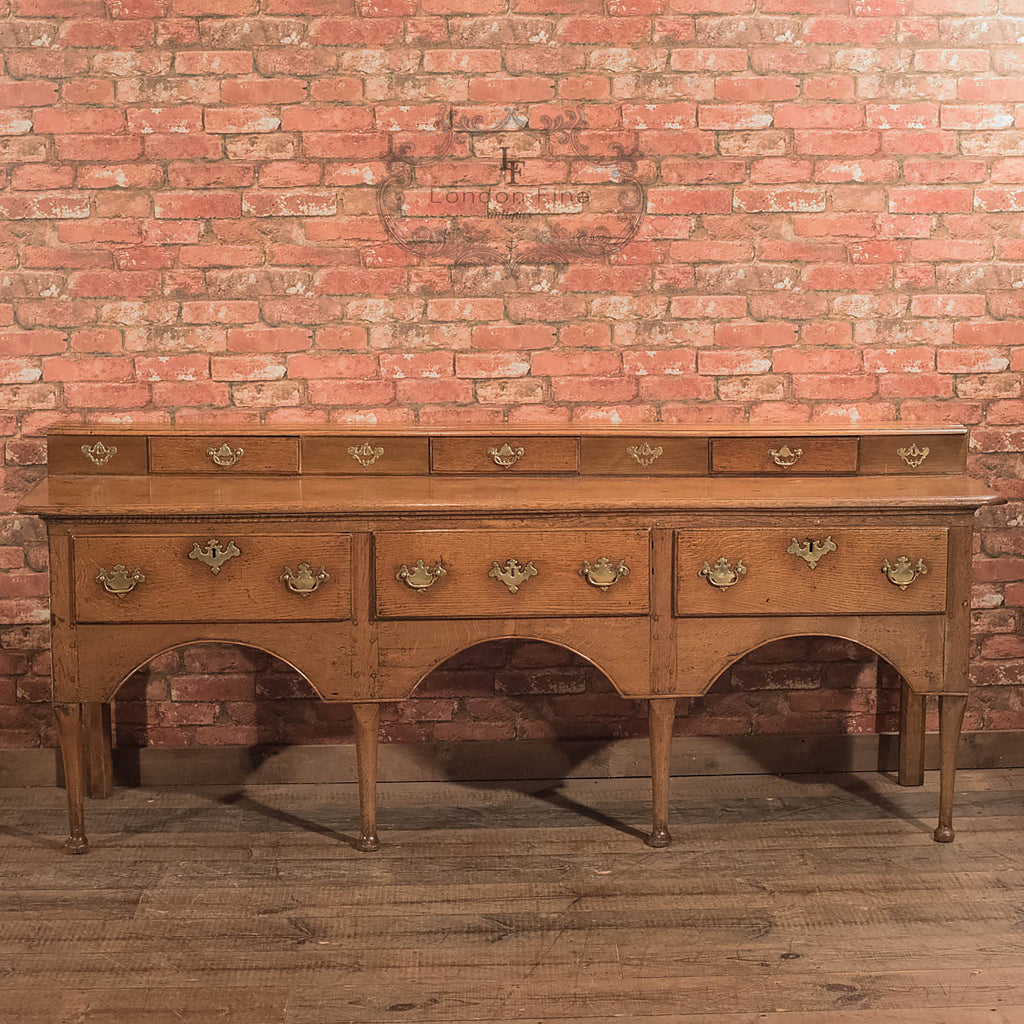 Antique Dresser Base, Georgian Oak Sideboard - London Fine Antiques