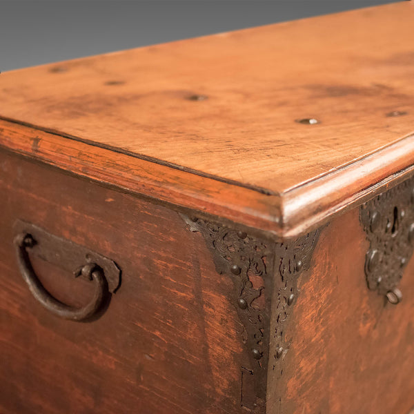 Antique Chest, Colonial Hardwood Trunk, Early C19th - London Fine Antiques