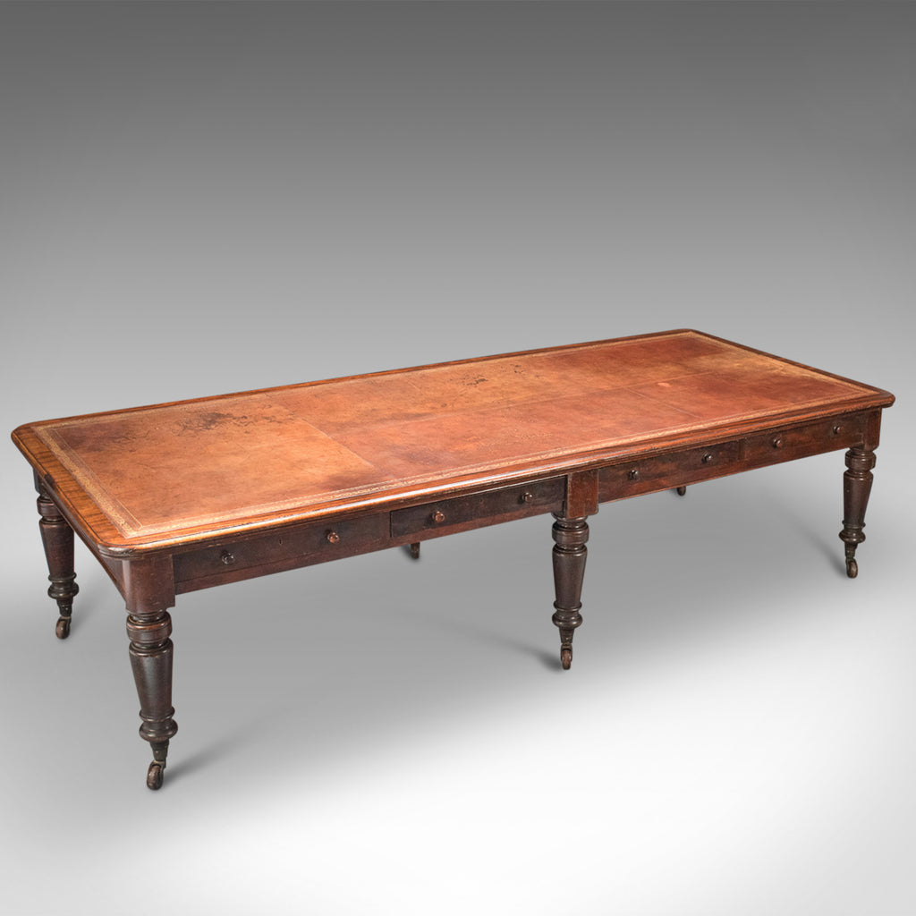 Very Large Antique Library Table, Mahogany, Victorian, Boardroom c.1870