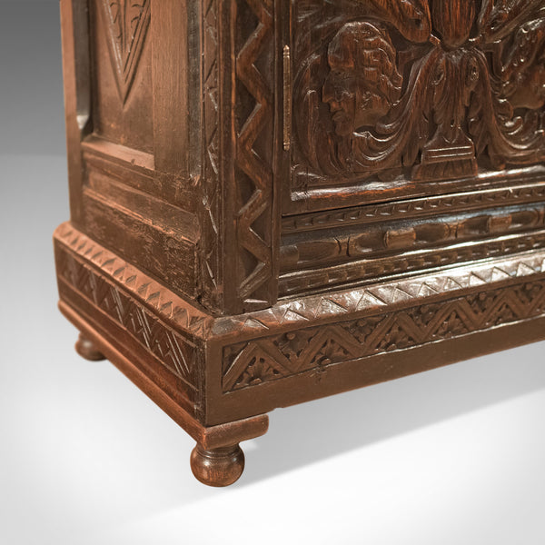 Antique Oak Cabinet, Profusely Carved, C17th & Later - London Fine Antiques